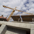 Balanced Tower Construction Crane Installed Foundation Building Architecture Project — Stock Photo #26594723