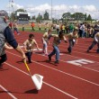 Stock Photo: Special Needs Students Run Clover Park School District Track Meet