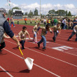 Special Needs Students Run Clover Park School District Track Meet — Stock Photo