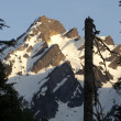 Fire Road Overlooks Del Campo Peak North Cascades Mountain Range — Stockfoto