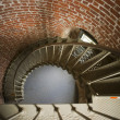 Spiral Staircase Historic Lighthouse Interior Architecture Brick — Stock Photo