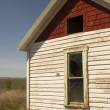Stock Photo: Abandoned Farm House Ghost Homestead Remains Agricultural Field