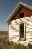 Abandoned Farm House Ghost Homestead Remains Agricultural Field — Stock Photo