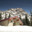 Private Lodging Ski Chalet Lodge Heavy Snow North Cascade Mountains — Stock Photo