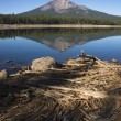 four mile lake mount mcloughlin klamath county oregon cascade mountains — Stock Photo