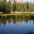 Four Mile Lake Mount McLoughlin Klamath County Oregon Cascades — Stock Photo