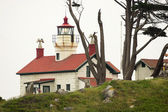 Battery Point Lighthouse Coastal Nautical Beacon Crescent City California — Stock Photo