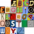 Stock Photo: Carnival Alphabet Set JPG Letters Type Typography Characters Fonts