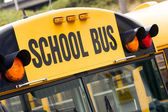School Bus Child Carrier Elementary Education Transportation Flashing Lights — Foto de Stock