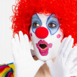 Female Clown entertainer working her routine — Stock Photo #33251277