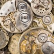 Stock Photo: Gold Silver Precision Antique Vintage Pocket Watch Bodies Parts
