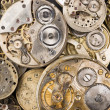 Gold Silver Precision Antique Vintage Pocket Watch Bodies Parts — 图库照片