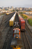 Railroad Yards Boxcars Cargo Containers Train Tracks Downtown Tacoma Washington — Stock Photo