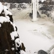 Palouse River Falls Frozen Water Wilderness Waterfall Winter Freeze — Stock Photo