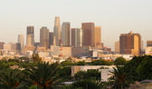 City of Los Angeles Horizontal Downtown Buildings Architecture — Stock Photo