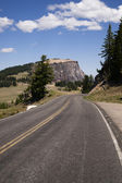 Rugged Oregon Two Lane Highway American Western Back Roads — Stock Photo