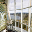 Lighthouse Top Tower Windows Curtain Glass Fresnel Magnifying Lens — Stock Photo
