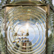 Stock Photo: Fresnel Magnifying Lens Close Up Lighthouse Glass Rotating Housing