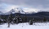 Sawtooth Mountain Range Deep Winter Landscape Idaho National Area — Stock Photo