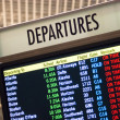 Large Lighted Informational Sign Departure Times Local Airport Transportation Center — Stock Photo