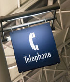Telephone Phone Booth Sign Marker Public Building Architecture Structure — Stock Photo