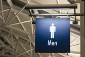 Men's Restroom Male Lavatory Sign Marker Public Building Architecture Structure — Foto de Stock