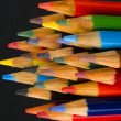 Macro Close Up Wood Multiple Color Art Supply Pencils — Stock Photo