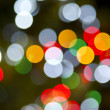 Christmas Lights Horizontal Circular Color Background Rainbow Glow — Foto Stock