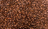 Dark Brown Roasted Coffee Seeds Beans Food Drink Ingredient — Stock Photo