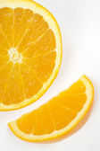 Half Citrus Orange Juicy Raw Food Fruit Ingredient Produce — Stock Photo