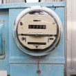 Glass Dome Watt Hour Electric Utility Meters Dock Outside — Stock Photo #37728885