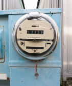 Glass Dome Watt Hour Electric Utility Meters Dock Outside — Stock Photo