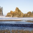 Pacific Ocean Coast Landscape Sea Surf Rugged Buttes Bluffs — Stock Photo