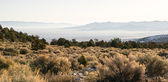 Looking Down Mountain Into Great Basin Nevada Desert Southwest — Stock Photo