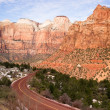 Highway 9 Zion Park Blvd Road Buttes Altar of Sacrifice — Stock Photo #38638507