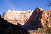Sunrise High Mountain Buttes Zion National Park Desert Southwest — Stock Photo