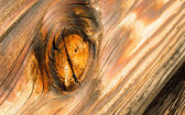 Lumber Gnarled Knotty Wood Lumber Plank Macro Burnt Nail — Stock Photo