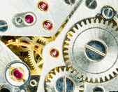 Vintage Watch Pocketwatch Time Piece Movement Gears Cogs — Stock Photo