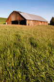 Farm Industry Equipment Enclosure Building Barn Palouse Country  — Stock Photo