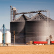 Agricultural Silo Loads Semi Truck With Farm Grown Food Grain — Stock Photo #43121163