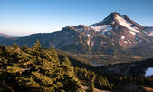 Mt. Jefferson Park Oregon Cascade Range Mountian Hiking Trail — Stock Photo