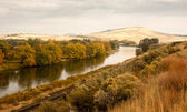 Storm wissen over landbouw land yakima river centraal washington — Stockfoto