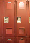 Student Lockers University School Campus Hallway Storage Locker  — Stock Photo