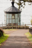Lighthouse Tower Frosted Glass Fresnel Lens Cape Meares Pacific  — Stock Photo