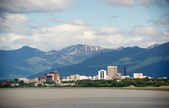 Office Buildings City Skyline Downtown Anchorage Alaska United States — Stock Photo