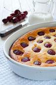 Pie with cherry — Stock Photo