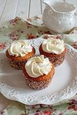Ciastko z kremem waniliowym — Zdjęcie stockowe