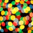 Boke abstract defocused red yellow green blue black background — Stok fotoğraf