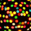 Boke abstract defocused red yellow green blue black background — Stock Photo
