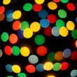 Boke abstract defocused red yellow green blue black background - Stock Photo
